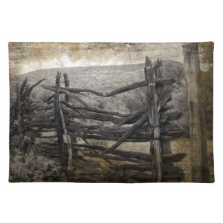 Primitive rural west country Rustic Farm Fence Placemat