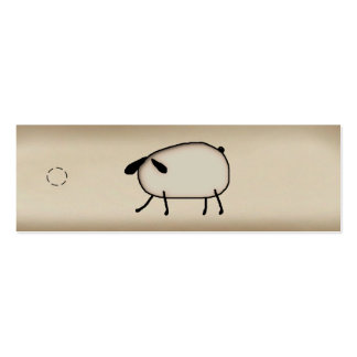 Primitive Sheep Skinny Hang Tag Pack Of Skinny Business Cards