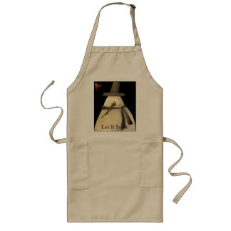 Primitive Snowman Long Apron
