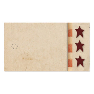 Primitive Star Hang Tag Business Card Template