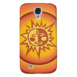 Primitive Tribal Sun Design Red Orange Glow Samsung Galaxy S4 Cover