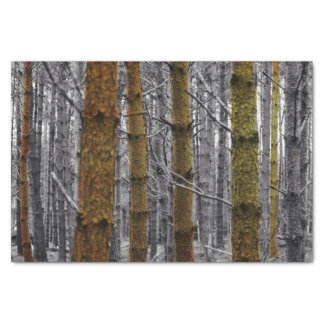 Primitive Western Country Camouflage Pine Trees Tissue Paper