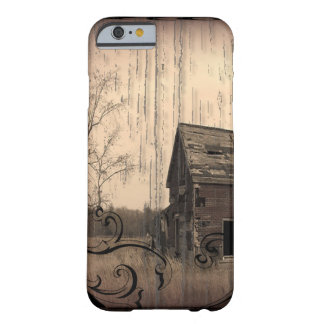 primitive western country farmhouse old barn barely there iPhone 6 case