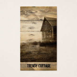 primitive western country old barn farmhouse cabin business card