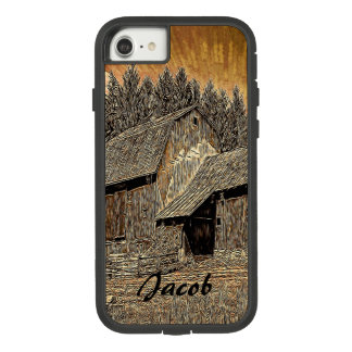 Primitive Western country old barn farmhouse Case-Mate Tough Extreme iPhone 8/7 Case