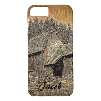 Primitive Western country old barn farmhouse iPhone 8/7 Case