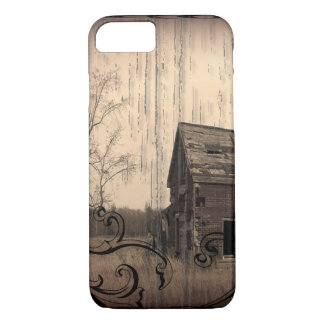 Primitive Western Country rustic farm old barn iPhone 7 Case