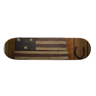 Primitive wood American flag skateboard deck