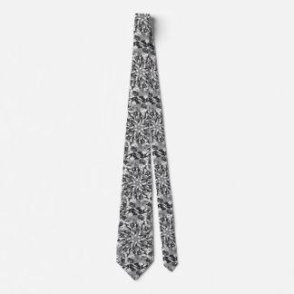 Primordial Egg - black&white abstract burst Tie