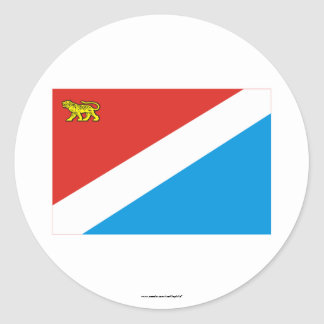 Primorsky Krai Flag Round Sticker