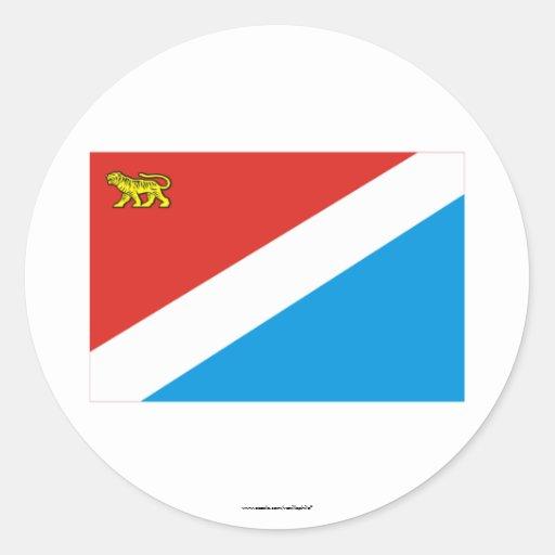 Primorsky Krai Flag Round Sticker