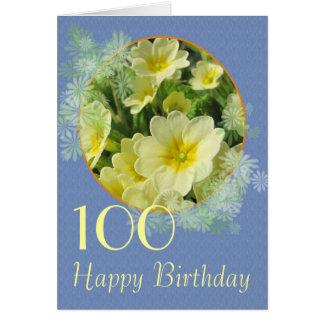 Primrose Birthday card you can customize