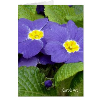"""Primrose Blue"" Greeting Card"