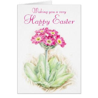 Primrose floral pink Easter card