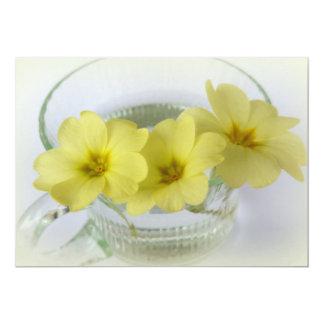 primrose in a coffee cup card