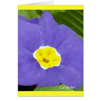 Primrose Painted Blue Greeting Card