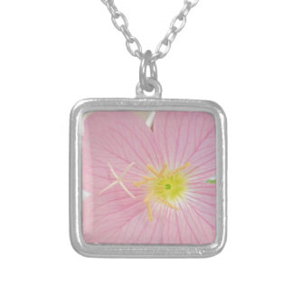 primrose pink silver plated necklace