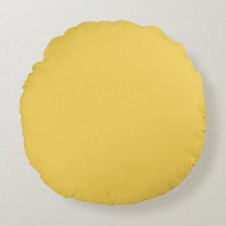 Primrose Yellow Colour Round Cushion