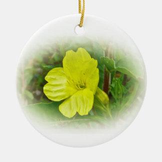 Primrose Yellow Wildflower Coordinating Items Round Ceramic Decoration