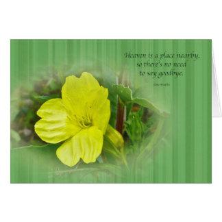 Primrose Yellow Wildflower Sympathy Greeting Card