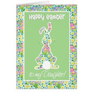 Primroses Cute Bunny Rabbit Easter for Daughter Card
