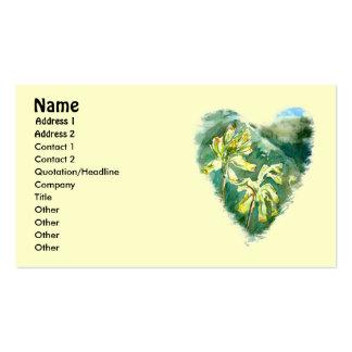 Primula Veris Heart business card