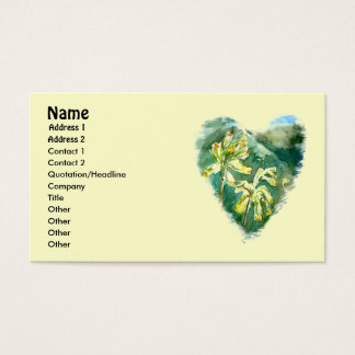 Primula Veris Heart business card