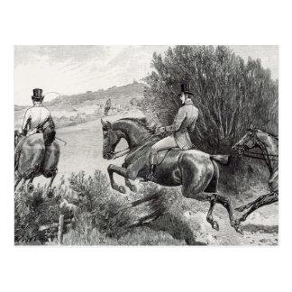 Prince Albert Hunting near Belvoir Castle Postcard