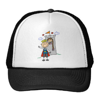 Prince and Girl in Tower Tshirts and Gifts Hats