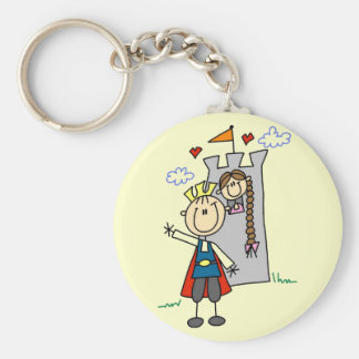 Prince and Girl in Tower Tshirts and Gifts Keychains