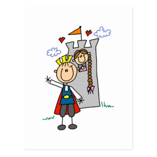 Prince and Girl in Tower Tshirts and Gifts Postcard
