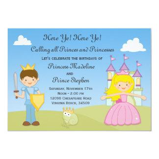 Prince and Princess Birthday Party Invitation