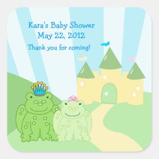 Prince and Princess Frog SQUARE Favor Sticker