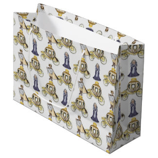 Prince and Princess Party large gift bag carriage