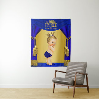 Prince Baby Shower Backdrops Tapestry