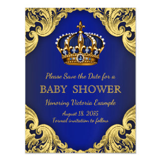 Prince Baby Shower Save the Date Postcard Magnets