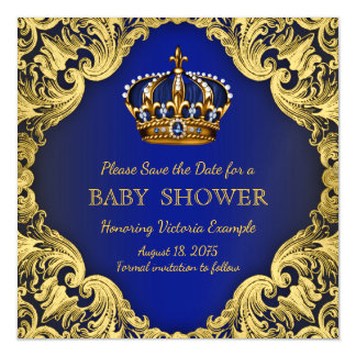 Prince Baby Shower Save the Date Postcard Magnets Magnetic Invitations
