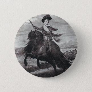 Prince Balthasar on Horseback by Velazque 6 Cm Round Badge