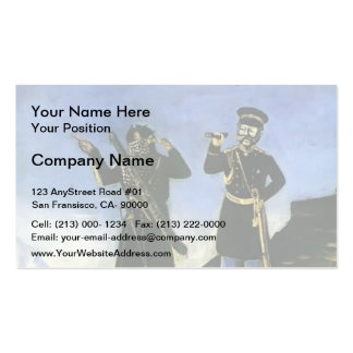 Prince Baryatinsky catch Shamil by Niko Pirosmani Business Card Template