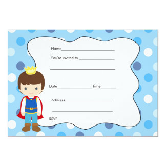 Prince Birthday Baby Shower Invitation Fill In