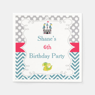Prince Birthday Party Disposable Serviette
