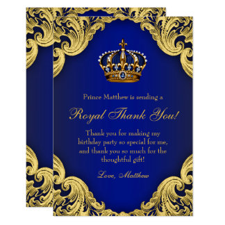 Prince Birthday Party Thank You Cards 9 Cm X 13 Cm Invitation Card