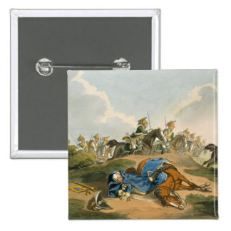 Prince Blucher under his Horse at the Battle of Wa Pins