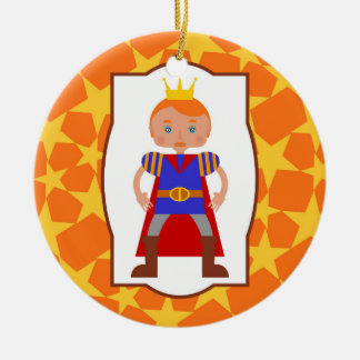Prince Charming Boy Birthday Party Round Ceramic Decoration