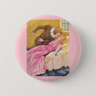 Prince Charming kissing Sleeping Beauty 6 Cm Round Badge