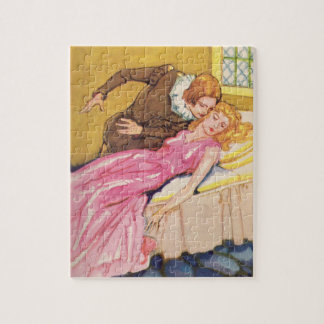 Prince Charming kissing Sleeping Beauty Jigsaw Puzzle