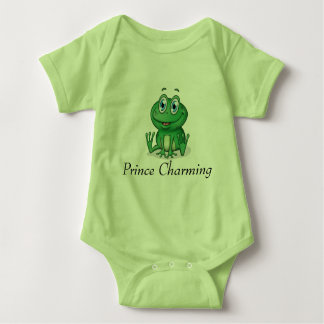 Prince Charming Sweet Baby Green Frog Baby Bodysuit