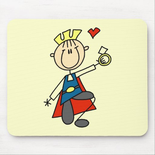 Prince Charming Wedding Proposal Tshirts and Gifts Mousepads