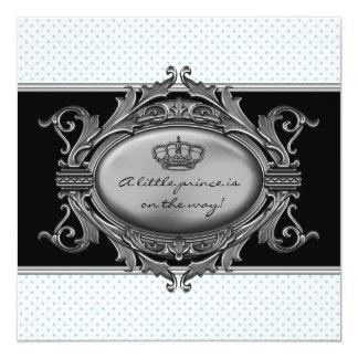 Prince Crown Blue Prince Baby Boy Shower Card
