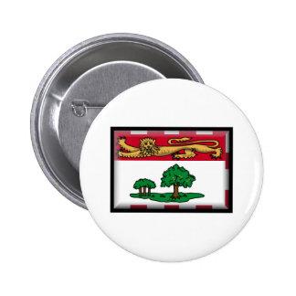 Prince Edward Island Flag 6 Cm Round Badge